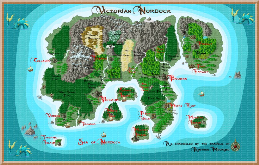 Map of Vicrtorian Nordock